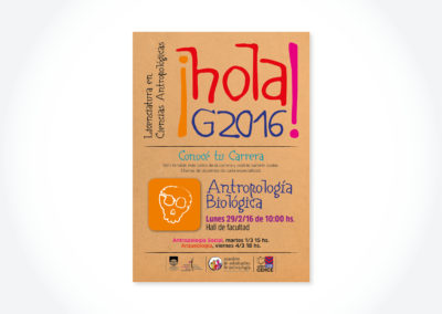 Hola G2016 Antropología Biológica