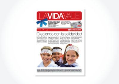 La Vida Vale / Tapa periódico