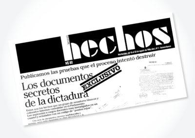 Semanario Hechos / Tapa periódico